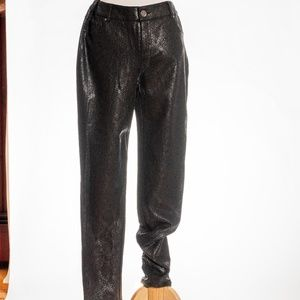 NWT INC Skinny Leg textured black pants sz 10